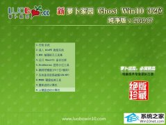 萝卜家园 Ghost Win10 32位 纯净版 v2019.07