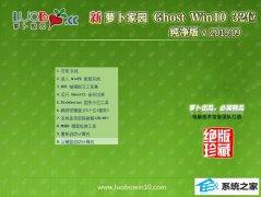 萝卜家园 Ghost Win10 32位 纯净版 v2019.09