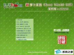 萝卜家园Win10 官网装机版 v2020.04(64位)